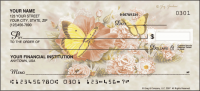 Butterfly Blooms Flower Personal Checks - 1 Box - Singles