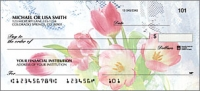 Tulip Whispers Flower Personal Checks - 1 Box