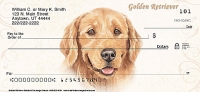 Golden Retriever Dog Personal Checks Designs
