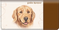Golden Retriever Dog Checkbook Cover Accessories