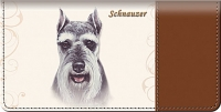 Schnauzer Dog Checkbook Cover Accessories