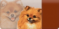 Pomeranian Dog Checkbook Cover Accessories