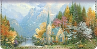 Thomas Kinkade Faith for all Seasons Checkbook Cover Personal Checks