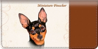 Miniature Pinscher Checkbook Cover Accessories