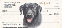 Black Labrador Dog Personal Checks