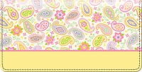 Pretty Paisley Checkbook Cover Accessories