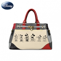 Disney Mickey Mouse And Minnie Mouse Love Story Handbag Personal Checks