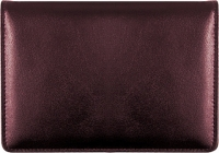 Burgundy Top-Stub Leather Checkbook Cover Accessories
