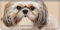 Faithful Friends - Shih Tzu Checkbook Cover Accessories