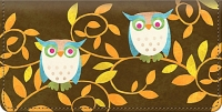 Challis & Roos Awesome Owls Checkbook Cover