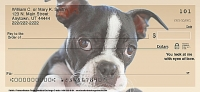 Faithful Friends - Boston Terrier Dog Personal Checks