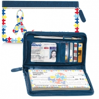 Autism: Imagine Zippered Wallet Checkbook Cover Personal Checks