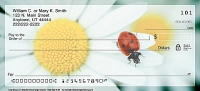 Lady Bug Luck Daisies Personal Checks