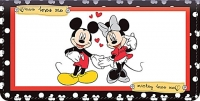 Mickey Loves Minnie Leather Checkbook Cover Accessories