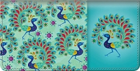 Challis & Roos Peacock Paradise Checkbook Cover