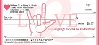 Sign Language Personal Checks