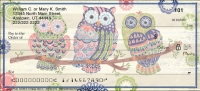 Groovy Owls Personal Checks