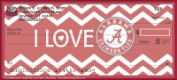 I Love Bama Chevron Personal Checks