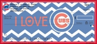 I Love the Cubs(TM) Chevron Personal Checks