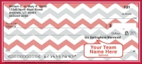 Red & Gray Chevron Personal Checks