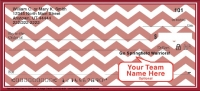 Red & White Chevron Personal Check
