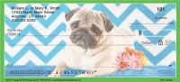 Chevron Pug Personal Checks