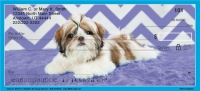 Chevron Shih Tzu Personal Checks