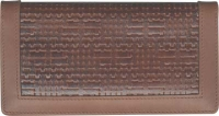Woven Leather Wallet Style Checkbook Cover