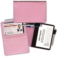 Pink Leather Debit Wallet