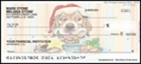 Gary Patterson Christmas Dogs Side Tear Personal Checks - 1 box