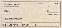 Parchment no monogram Classic Personal Checks - 1 Box