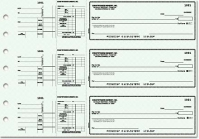 Blue Safety Payroll General Purpose 3-on-a-Page Checks - 1 Box