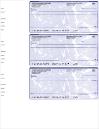 Blue Marble 3 Per Page Wallet Checks