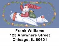 Santa's on the Way Address Labels by Lorrie Weber Personal Checks