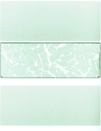 Green Marble Blank Stock for Computer Voucher Checks Middle Style