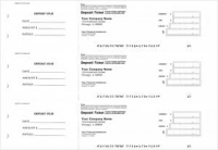 Business 3 to a page Deposit Tickets Business Accessories