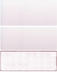 Burgundy Safety Blank Voucher Checks Bottom Style