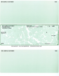 Green Marble Middle Style Voucher Computer Checks