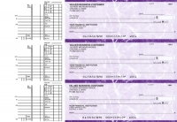 Purple Marble Multi Purpose Business Checks