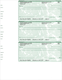 Green Marble 3 Per Page Wallet Checks