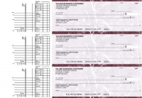 Burgundy Marble Multi Purpose Business Checks