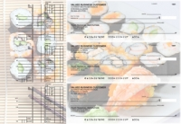 Japanese Cuisine Multi Purpose Designer Business Checks