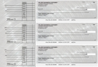 Brushed Metal Accounts Payable Designer Business Checks