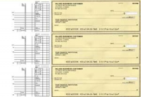 Yellow Safety Multi Purpose Business Checks