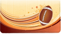 Football Leather Checkbook Cover