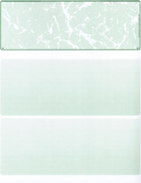 Green Marble Blank Stock for Computer Voucher Checks Top Style