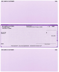 Purple Safety Middle Style Voucher Computer Checks