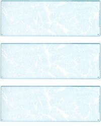 Teal Marble Blank Stock For 3 to a Page Voucher Computer Checks