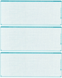 Teal Safety Blank Stock For 3 to a Page Voucher Computer Checks