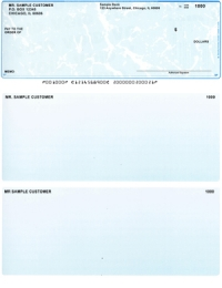 Teal Marble Top Style Voucher Computer Checks